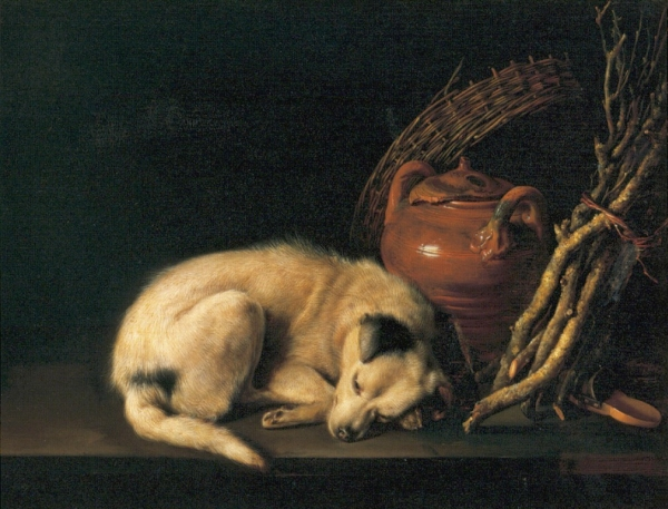 http://uploads2.wikiart.org/images/gerrit-dou/a-sleeping-dog-with-terracotta-pot-1650.jpg